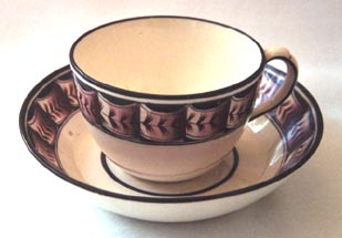 Creamware Cup and Saucer - For Sale on ebay